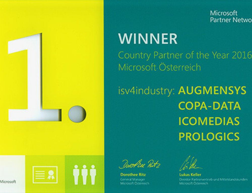 Solutions for the smart factory of tomorrow: isv4industry is Microsoft Partner of the Year