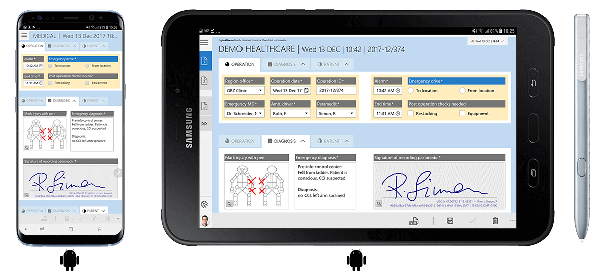 HybridForms: Download Demo App for Android