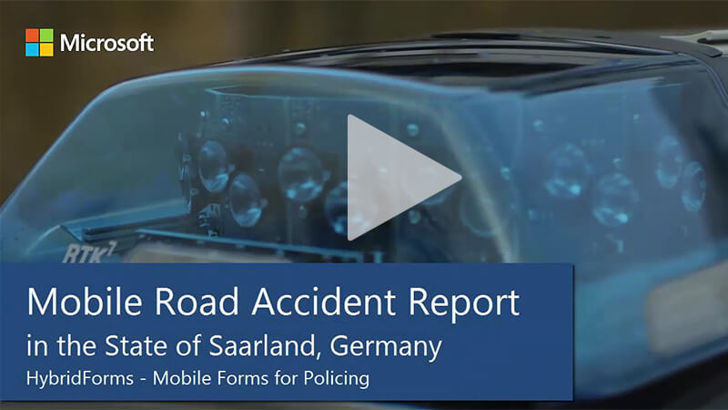 Saarland Police: Mobile Road Accident Report