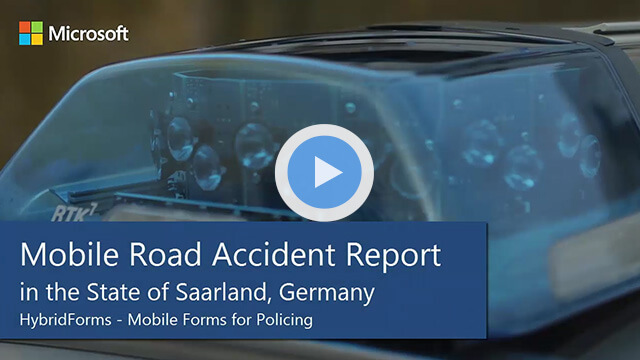 HybridForms: Mobile Road Accident Report in the State of Saarland