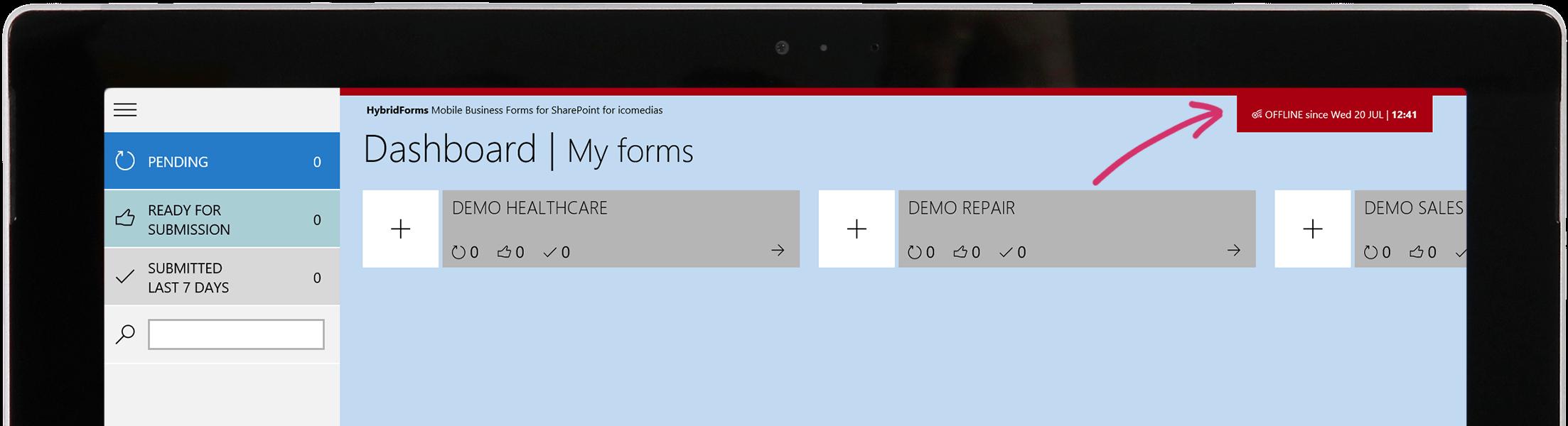 HybridForms Offline Mode