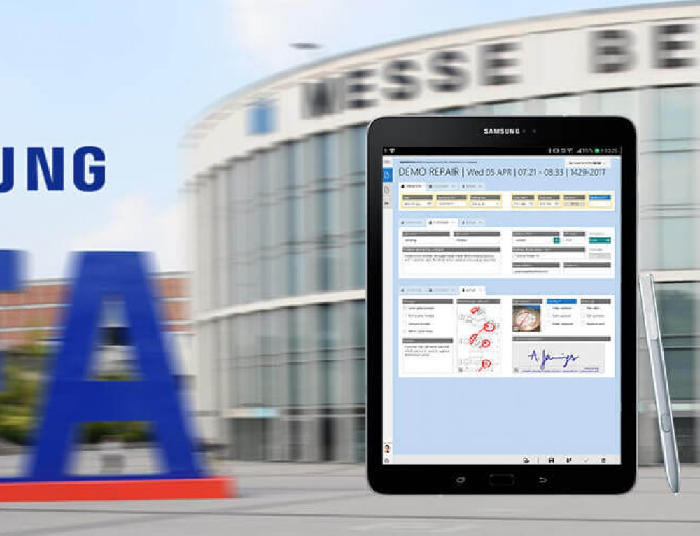 Mobile forms with HybridForms at the IFA Berlin
