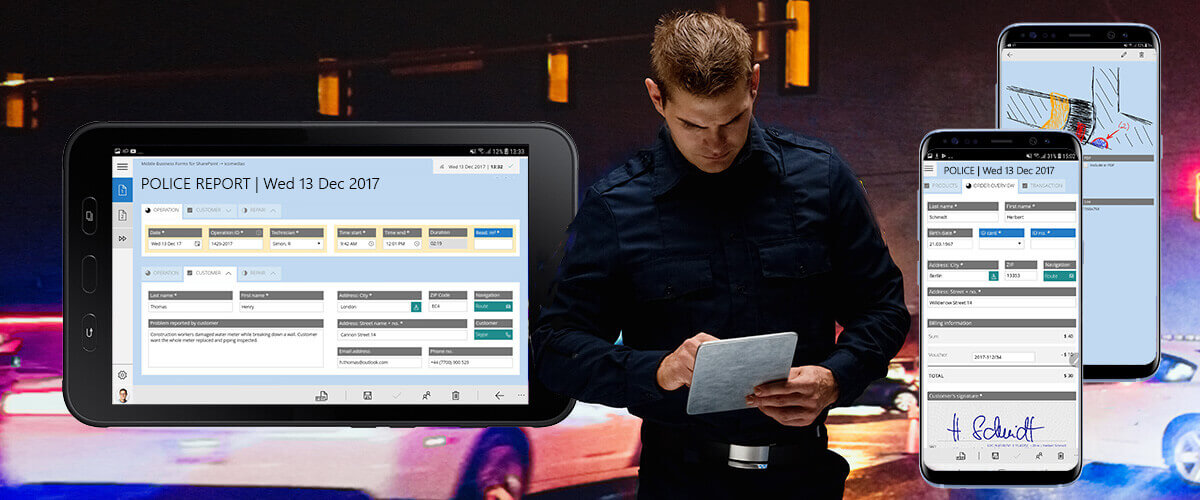 Modern police work with HybridForms at the European Police Congress 2018