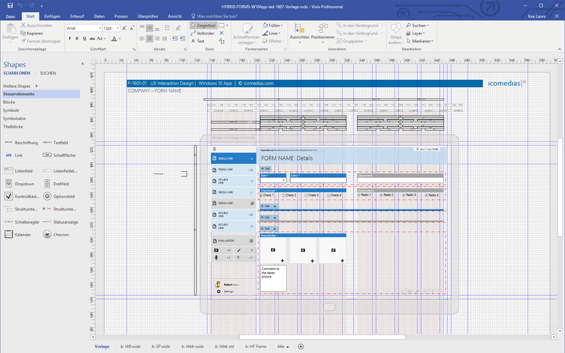 Visio project example